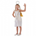 GOLD ANGEL CHILDRENS FANCY DRESS COSTUME